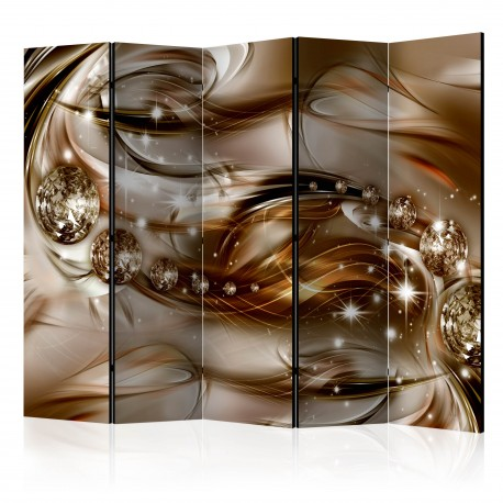 Paravent 5 volets  Chocolate Tide II [Room Dividers]