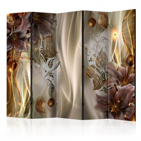 Paravent 5 volets  Amber Land II [Room Dividers]