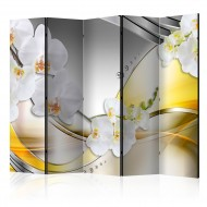 Paravent 5 volets  Yellow Journey II [Room Dividers]