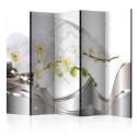 Paravent 5 volets - Pearl Dance of Orchids II [Room Dividers]