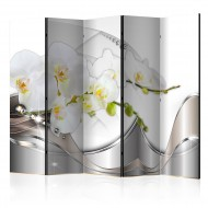 Paravent 5 volets  Pearl Dance of Orchids II [Room Dividers]