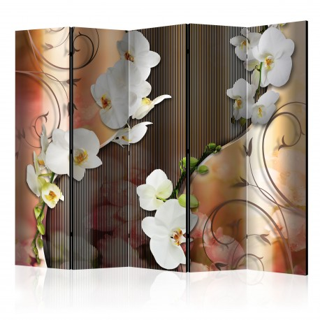 Paravent 5 volets  Orchid II [Room Dividers]