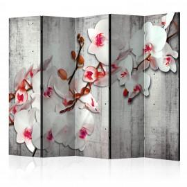 Paravent 5 volets - Concrete Orchid II [Room Dividers]