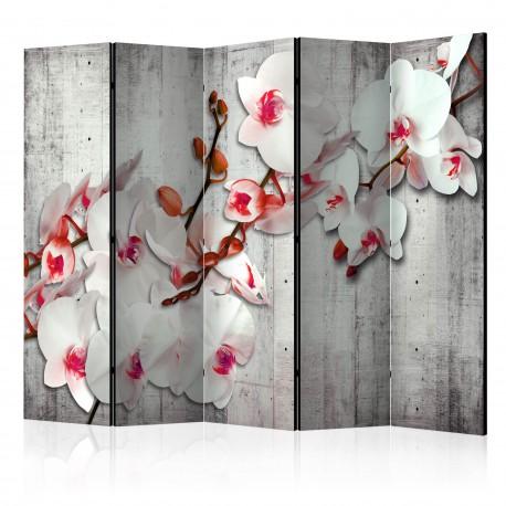 Paravent 5 volets  Concrete Orchid II [Room Dividers]