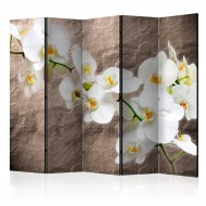 Paravent 5 volets  Impeccability of the Orchid II [Room Dividers]
