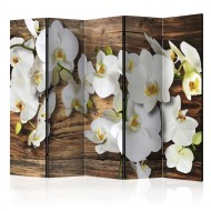 Paravent 5 volets  Forest Orchid II [Room Dividers]