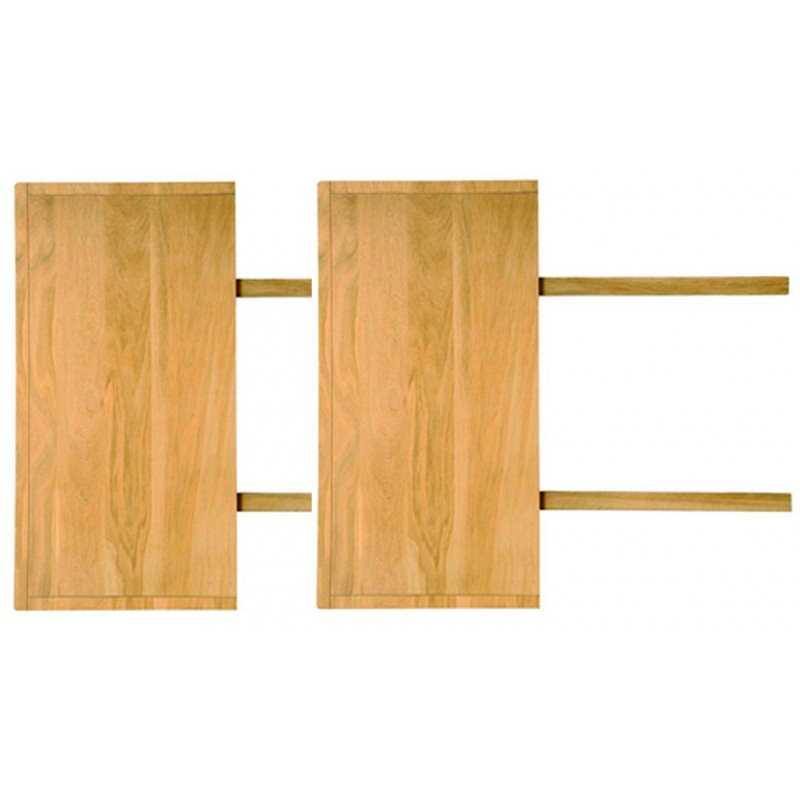 Lot de 2 allonges pour table de salle manger 220 cm 100 for Table de salle a manger 220 cm