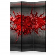 Paravent 3 volets  Red Ink Blot [Room Dividers]