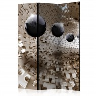 Paravent 3 volets  Golden Jigsaw [Room Dividers]