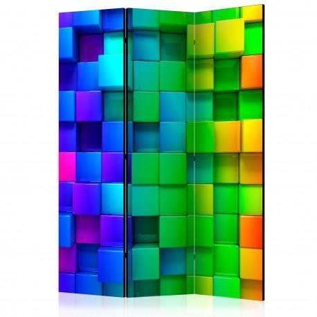 Paravent 3 volets  Colourful Cubes [Room Dividers]
