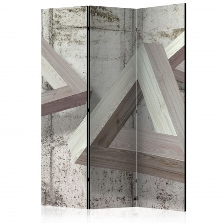 Paravent 3 volets  Grey Trio [Room Dividers]