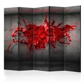 Paravent 5 volets - Red Ink Blot II [Room Dividers]