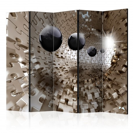 Paravent 5 volets  Golden Jigsaw II [Room Dividers]