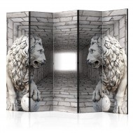Paravent 5 volets  Stone Lions II [Room Dividers]