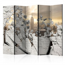 Paravent 5 volets - City behind the Wall II [Room Dividers]