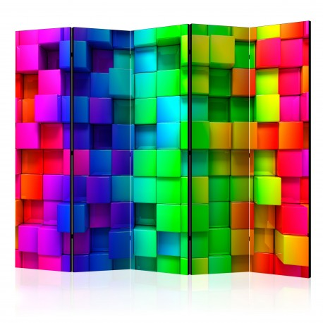 Paravent 5 volets  Colourful Cubes II [Room Dividers]