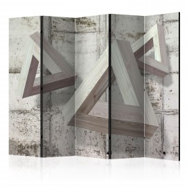 Paravent 5 volets - Grey Trio II [Room Dividers]