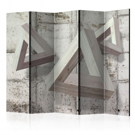 Paravent 5 volets  Grey Trio II [Room Dividers]