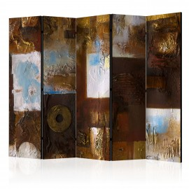 Paravent 5 volets - Winter Landscape II [Room Dividers]