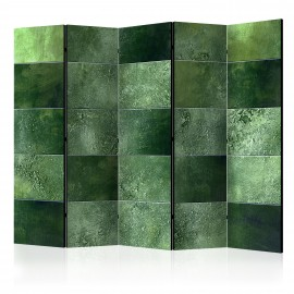 Paravent 5 volets - Green Puzzle II [Room Dividers]