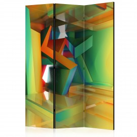 Paravent 3 volets - Colourful Space [Room Dividers]