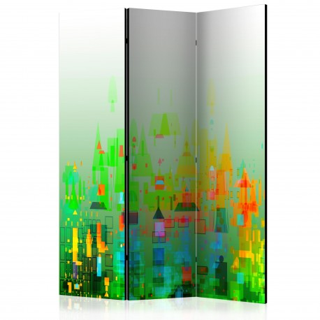 Paravent 3 volets  Abstract City [Room Dividers]