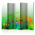 Paravent 5 volets - Abstract City II [Room Dividers]