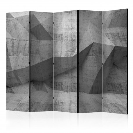 Paravent 5 volets  Concrete Geometry II [Room Dividers]
