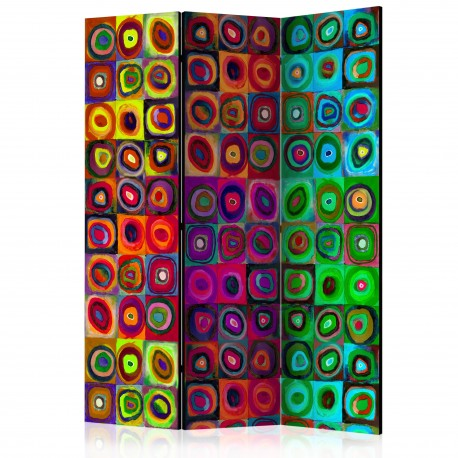Paravent 3 volets  Colorful Abstract Art  [Room Dividers]