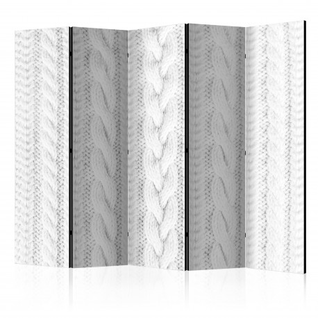 Paravent 5 volets  White Knit II [Room Dividers]