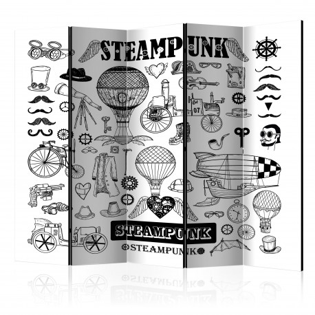 Paravent 5 volets  Steampunk II [Room Dividers]