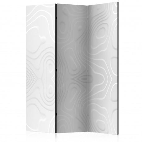 Paravent 3 volets  Room divider  White waves I