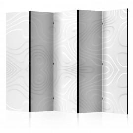 Paravent 5 volets - Room divider - White waves II