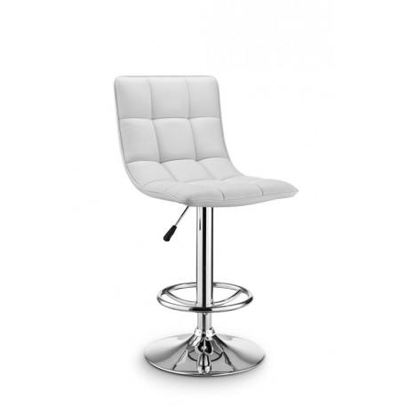 chaise de bar daiki blanche r glable beaux meubles pas chers. Black Bedroom Furniture Sets. Home Design Ideas