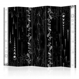 Paravent 5 volets - Black Elegance II [Room Dividers]
