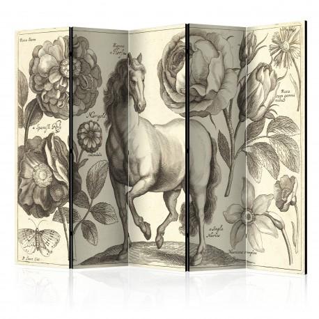 Paravent 5 volets  Horse II [Room Dividers]