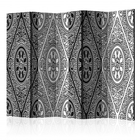 Paravent 5 volets  Ethnic Monochrome II [Room Dividers]