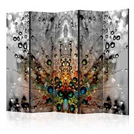Paravent 5 volets  Enchanted Morning Dew II [Room Dividers]