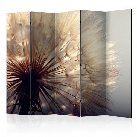 Paravent 5 volets  Dandelion Kiss II [Room Dividers]