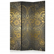 Paravent 3 volets  Golden Butterfly [Room Dividers]