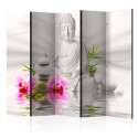 Paravent 5 volets - Buddha and Orchids II [Room Dividers]