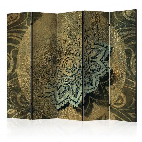 Paravent 5 volets  Golden Treasure II [Room Dividers]