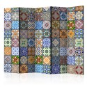 Paravent 5 volets - Colorful Mosaic II [Room Dividers]