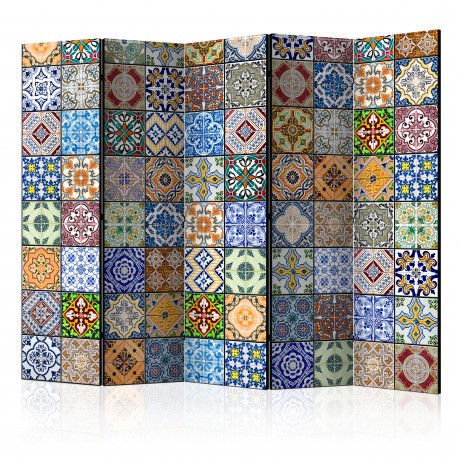 Paravent 5 volets  Colorful Mosaic II [Room Dividers]