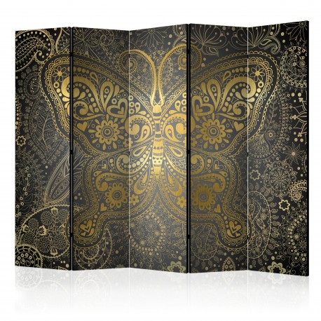 Paravent 5 volets  Golden Butterfly II [Room Dividers]