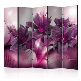 Paravent 5 volets - The Purple Flame II [Room Dividers]