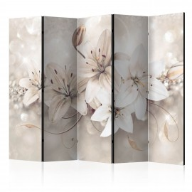 Paravent 5 volets - Diamond Lilies II [Room Dividers]