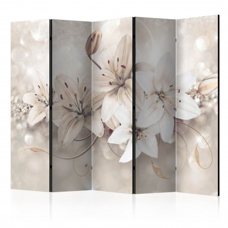 Paravent 5 volets  Diamond Lilies II [Room Dividers]