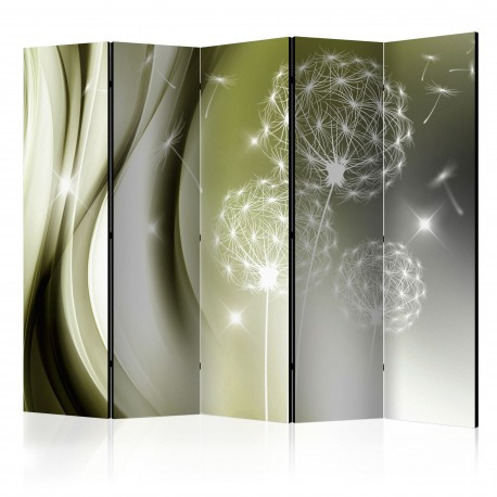 Paravent 5 volets  Green Gentleness II [Room Dividers]