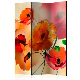 Paravent 3 volets - Velvet Poppies [Room Dividers]